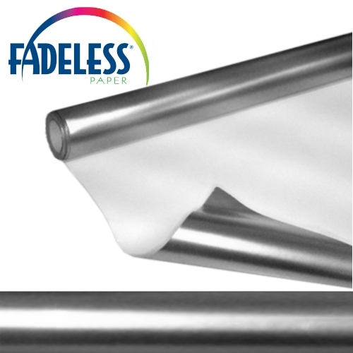 Metallic Silver Fadeless Display Paper, 1218mm x 3.6m